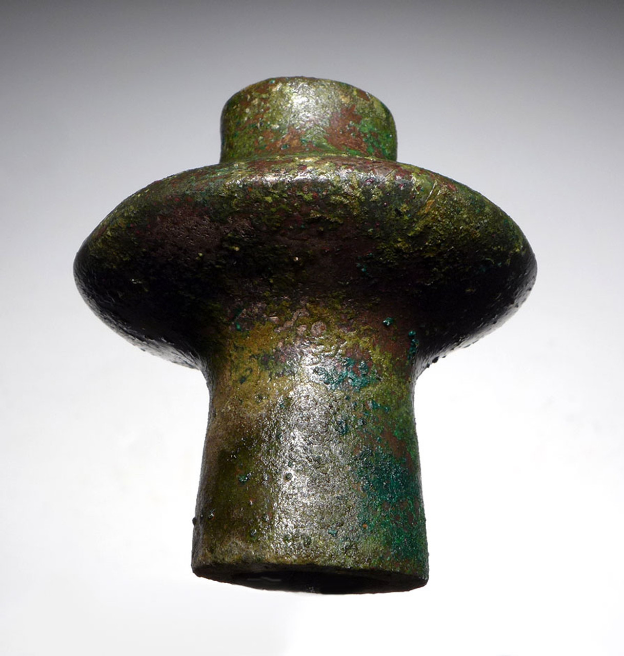 LURISTAN ANCIENT BRONZE FLANGED DISK MACE HEAD WITH THE FINEST PRESERVATION  *LUR150