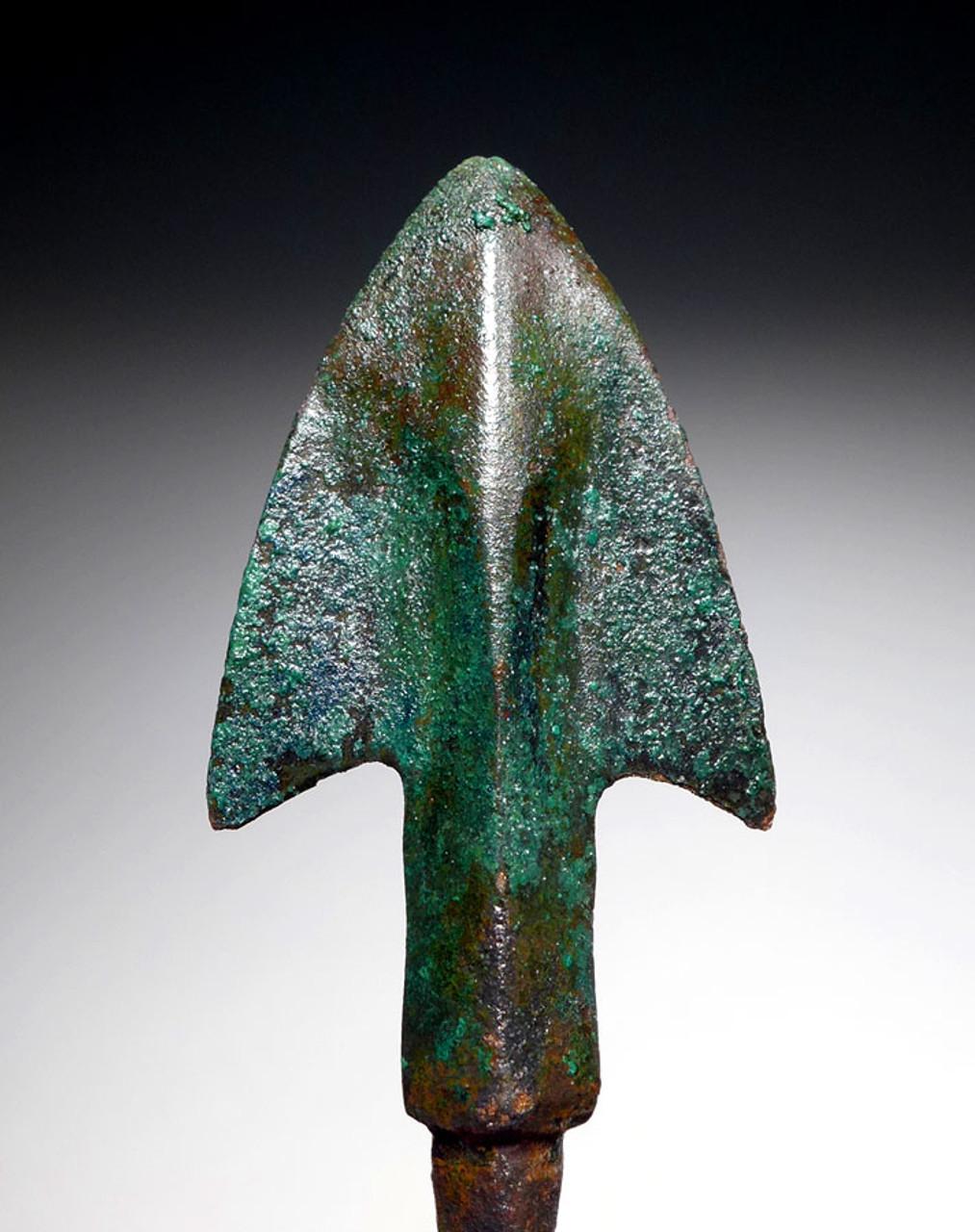 SUPREME ANCIENT LURISTAN BRONZE BROADHEAD ARROWHEAD FOR WAR AND LARGE GAME HUNTING  *LUR156