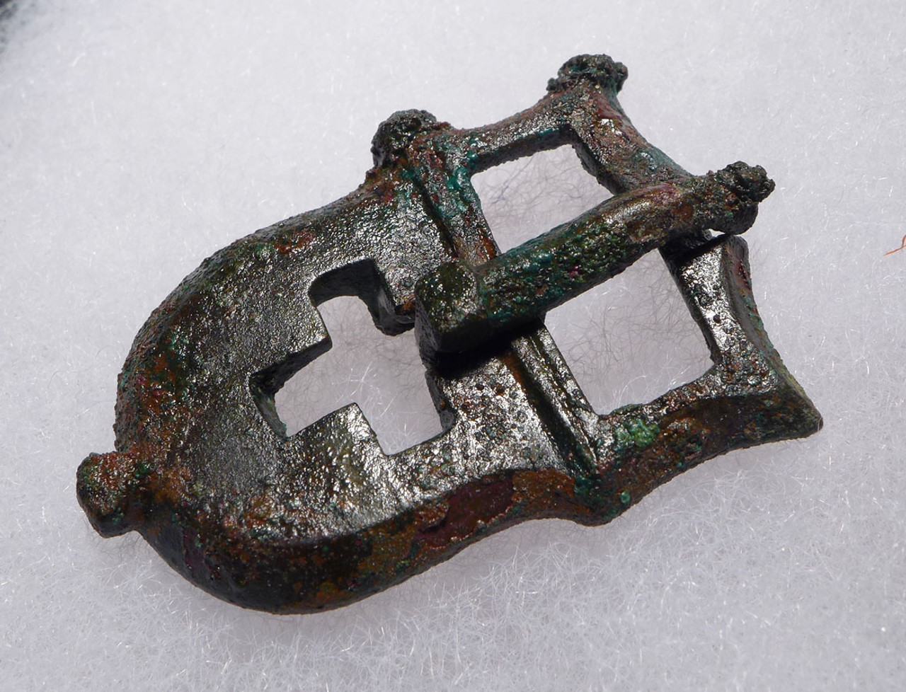 ANCIENT CHRISTIAN ROMAN BYZANTINE STRAP BUCKLE WITH CROSS DECORATION  *R233