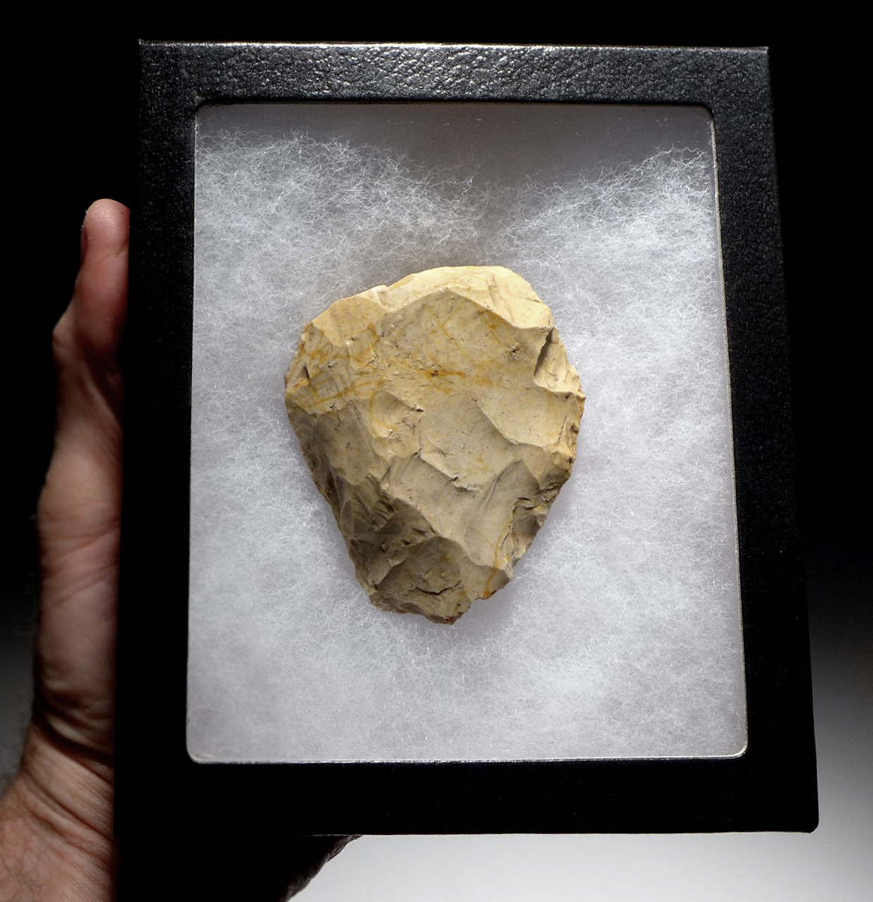 EXQUISITE NEANDERTHAL MOUSTERIAN FLINT BIFACE HAND AXE FROM NORMANDY FRANCE *M501