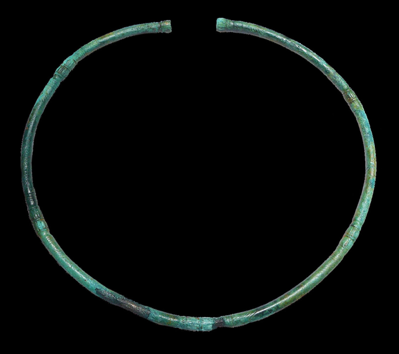 MIDDLE BRONZE AGE JEWELRY TORC NECKLACE RING FROM ANCIENT GERMANY  *EB005