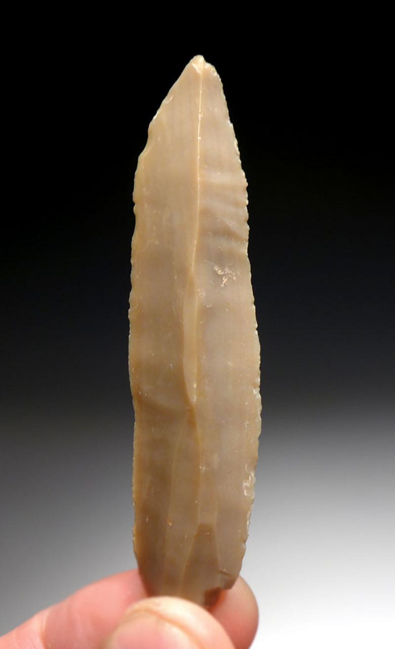 SUPERB RARE FLINT MIDDLE EAST NEOLITHIC KNIFE BLADE FROM THE CRADLE OF CIVILIZATION IN JORDAN  *N185