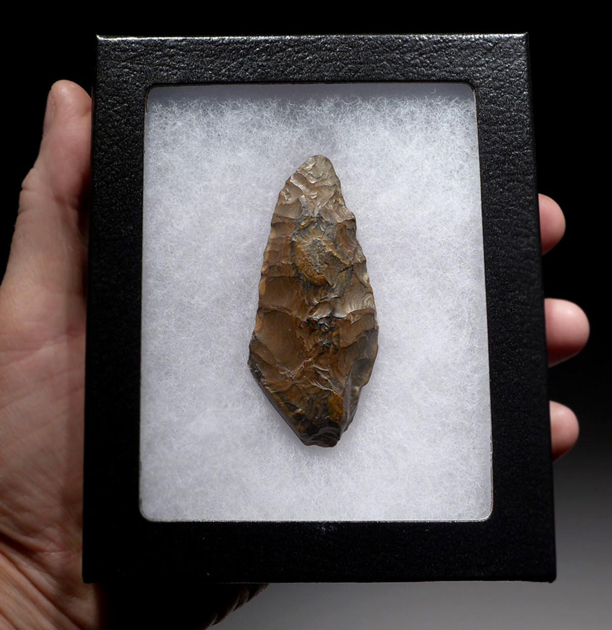 RARE BIFACIAL EGYPTIAN FLINT KNIFE BLADE FROM PREDYNASTIC NEOLITHIC EGYPT  *CAP246