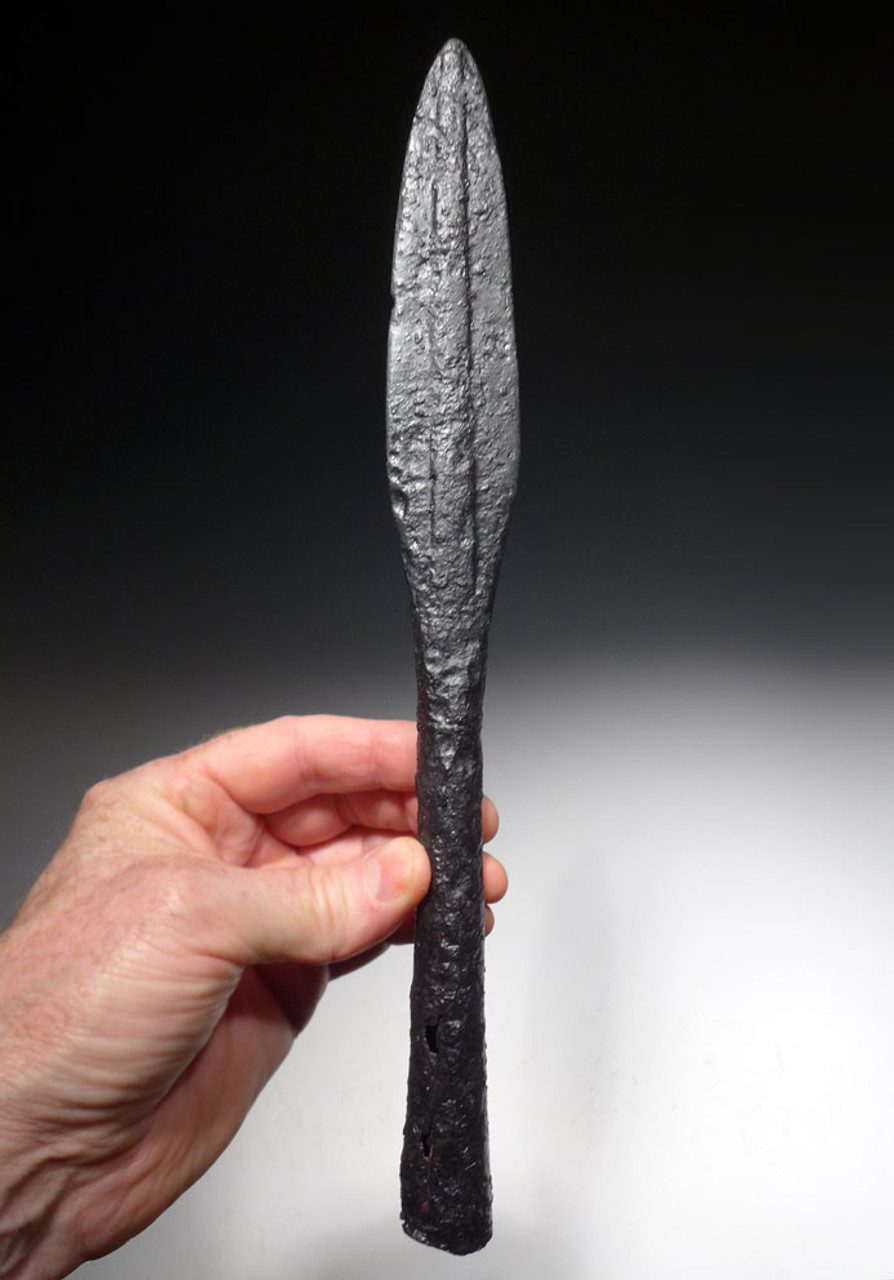 EARLY ANCIENT ISLAMIC UMAYYAD CAVALRY LANCE SPEARHEAD FROM THE ENEMY OF THE BYZANTINE ROMAN EMPIRE *NE210