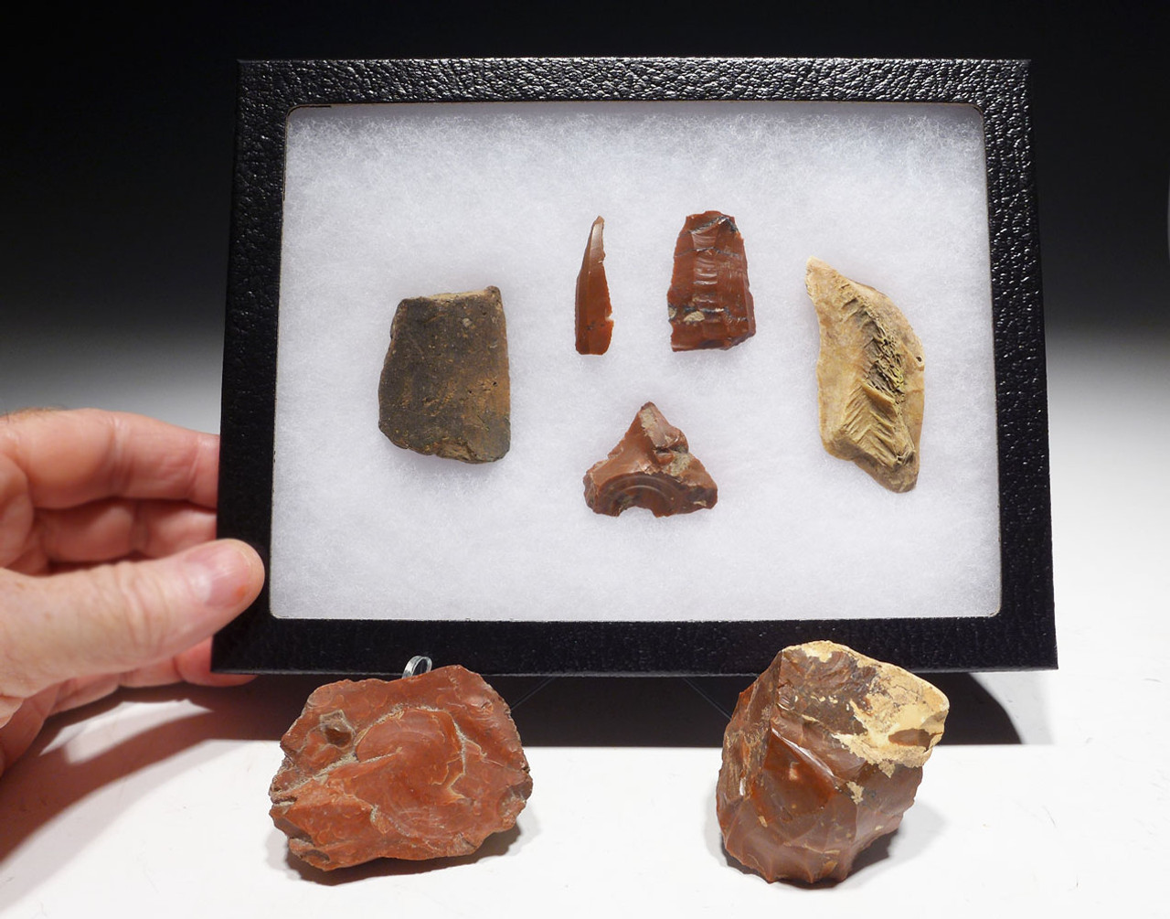 RARE SEVEN PIECE HUNGARIAN NEOLITHIC ARTIFACT SET FROM EUROPE'S FIRST FARMERS  *N188
