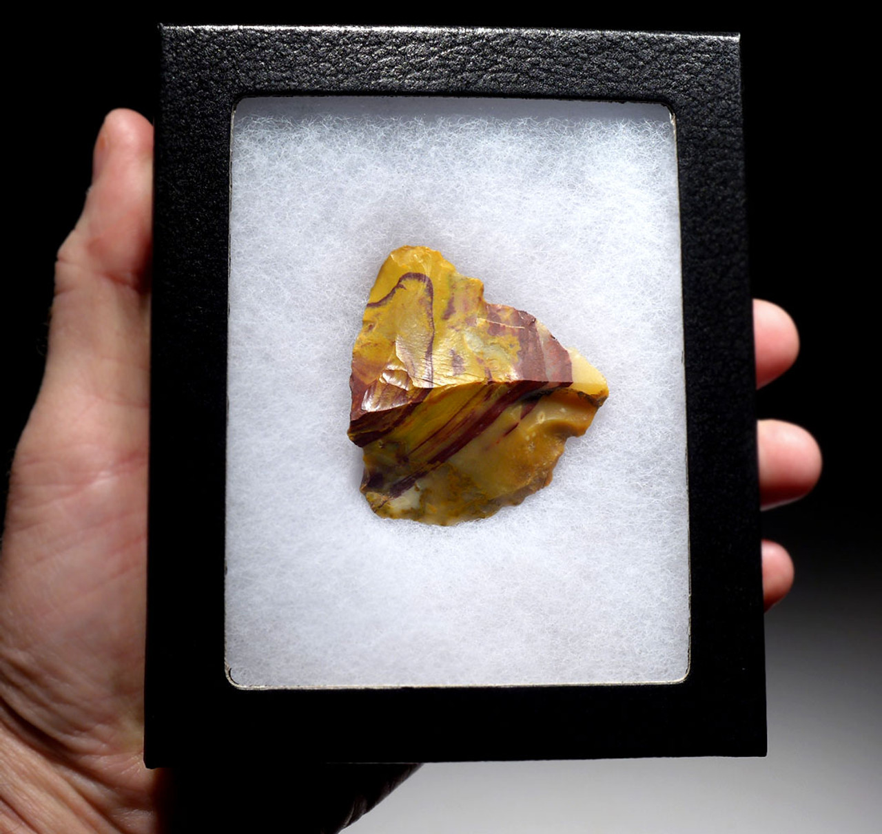 RARE CRAZY COLORFUL NEANDERTHAL PRESTIGE JASPER FLAKE MOUSTERIAN TOOL FROM FONTMAURE FRANCE  *M408