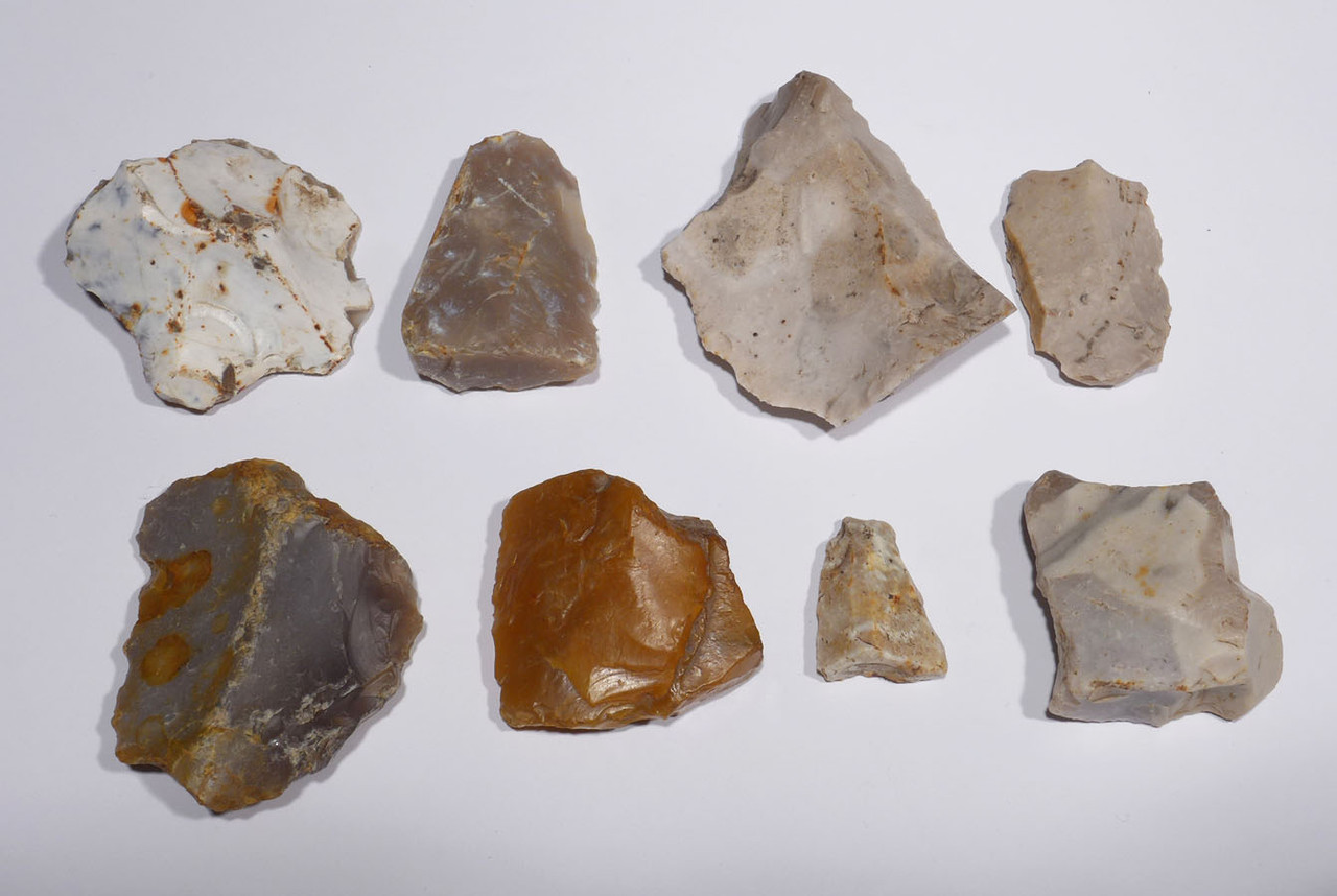 EUROPEAN NEOLITHIC STONE FLAKE TOOLS OF THE FUNNEL NECKED BEAKER CULTURE FROM GERMANY *N601