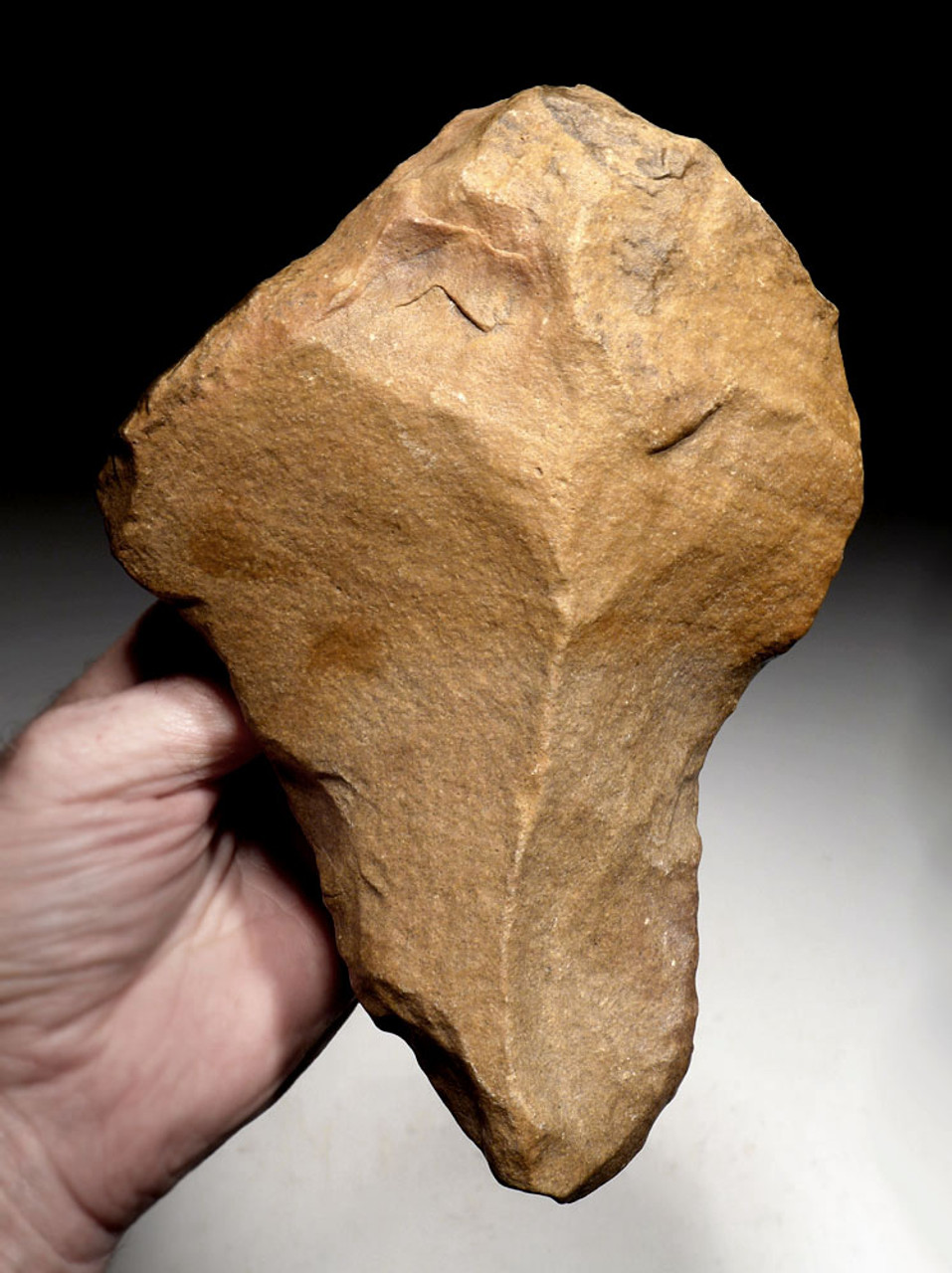 LARGE MUSEUM-CLASS BONE-SMASHING ACHEULEAN STONE HAND AXE MADE BY HOMO ERECTUS (ERGASTER)  *ACH413