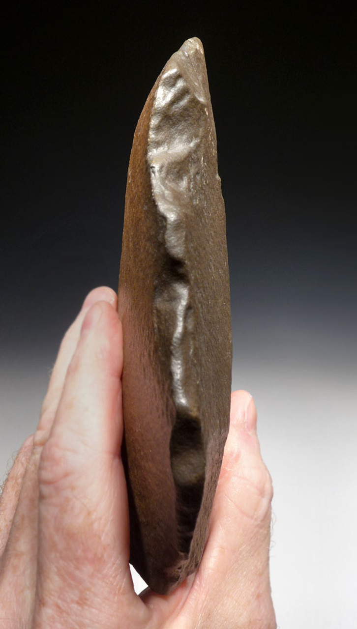 FINEST LARGE OVATE STONE AGE ACHEULEAN HAND AXE OF EXCEPTIONAL BEAUTY AND SIZE  *ACH412