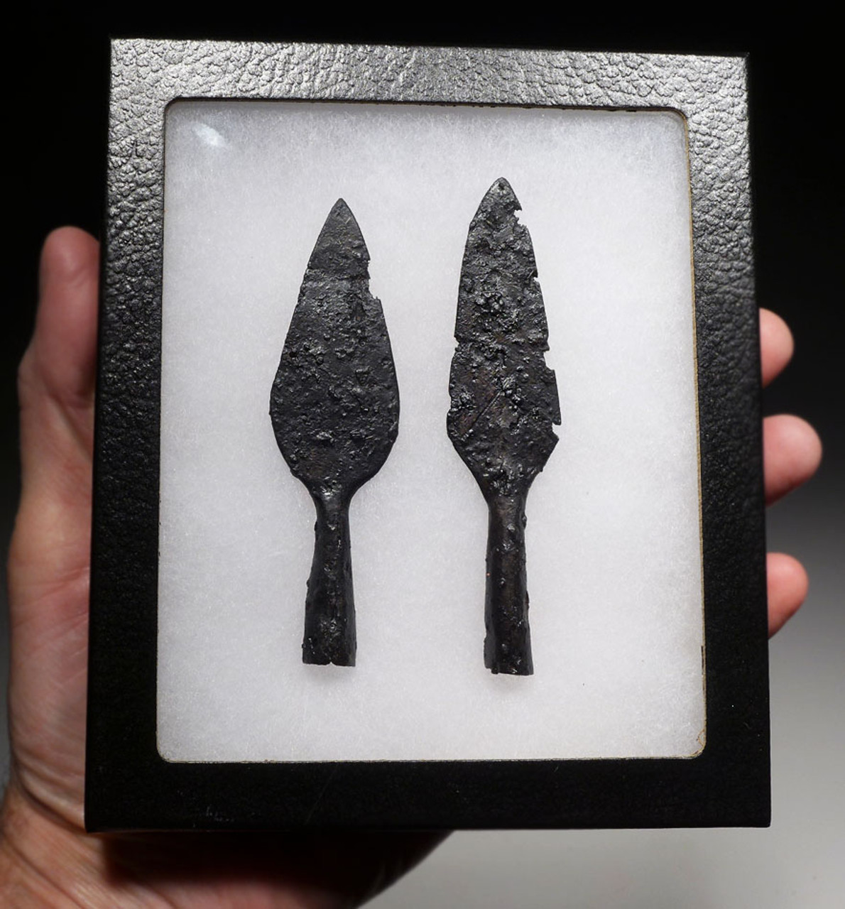 ANCIENT ROMAN BYZANTINE EMPIRE IRON ARROWHEADS FROM LINE ARCHERS  *R261