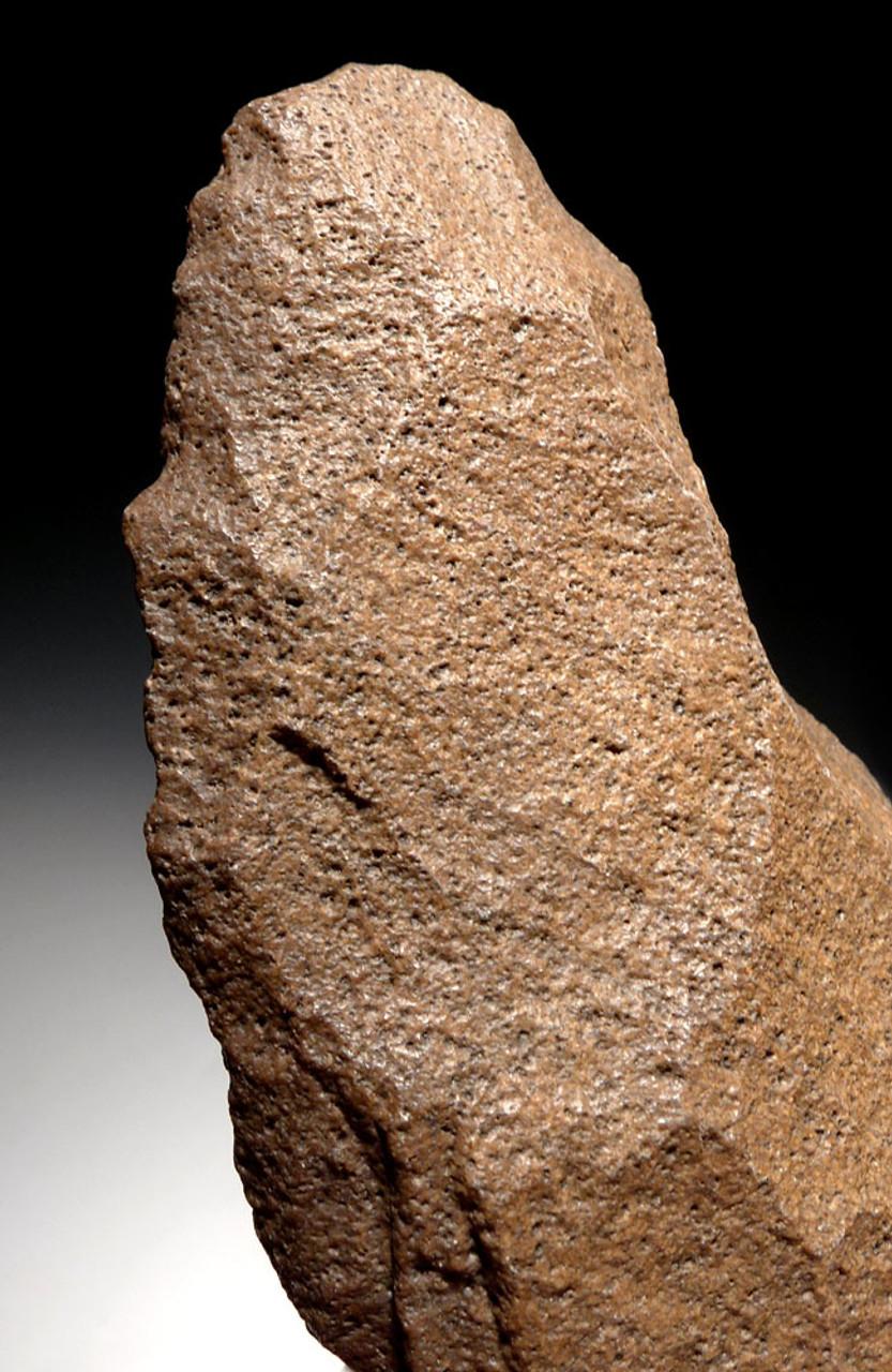 EXQUISITE ACHEULEAN HAND AXE OF VESICULAR BASALT MADE BY AFRICAN HOMO ERGASTER  *ACH290