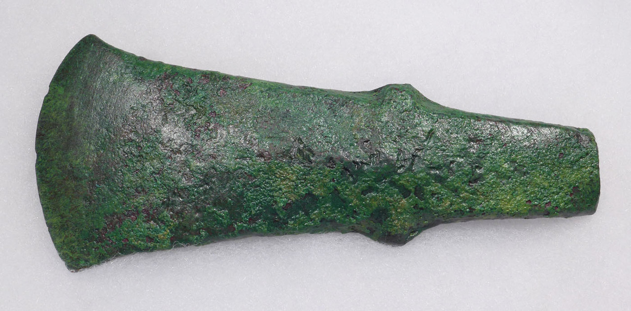 HEAVY ANCIENT LURISTAN BRONZE SHOULDERED COMBAT AXE  *LUR162