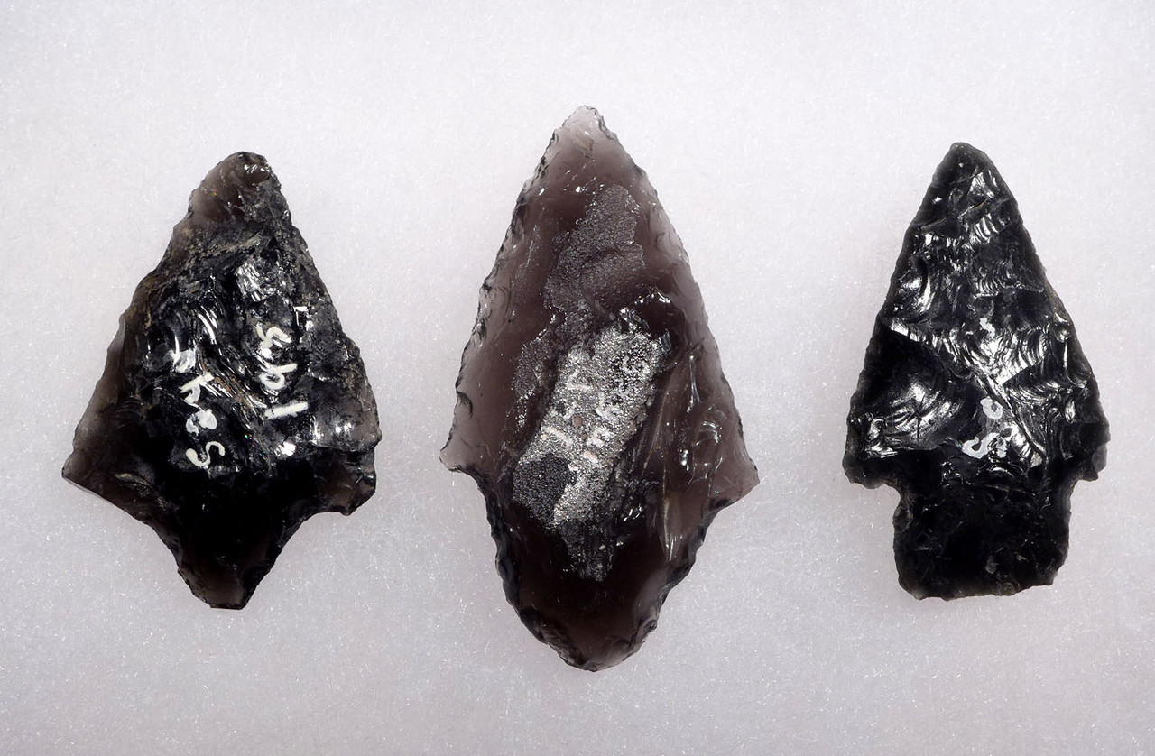 THREE SUPREME ATLATL SPEARHEAD POINTS FROM PRE-COLUMBIAN MESOAMERICA  *PC303