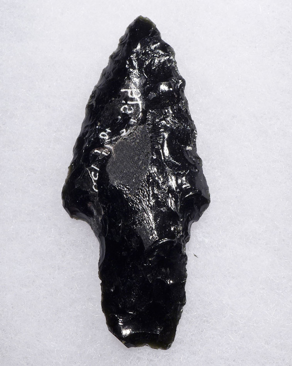 LARGE PRE-COLUMBIAN OBSIDIAN ATLATL SPEARHEAD  *PC305