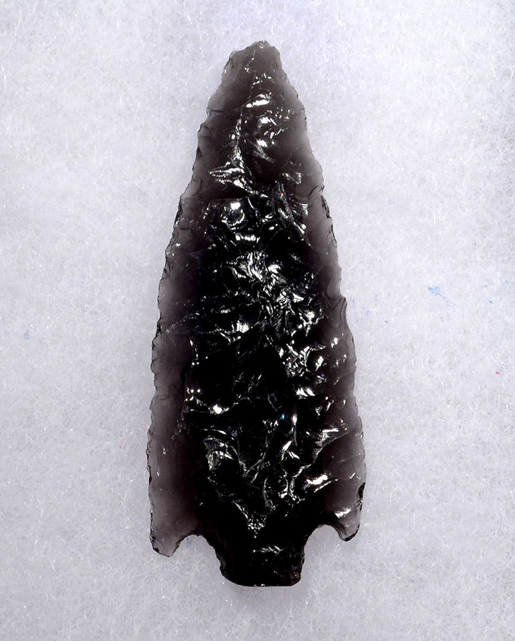 SUPERBLY MADE PRE-COLUMBIAN TRANSLUCENT OBSIDIAN BARBED ATLATL POINT  *PC308