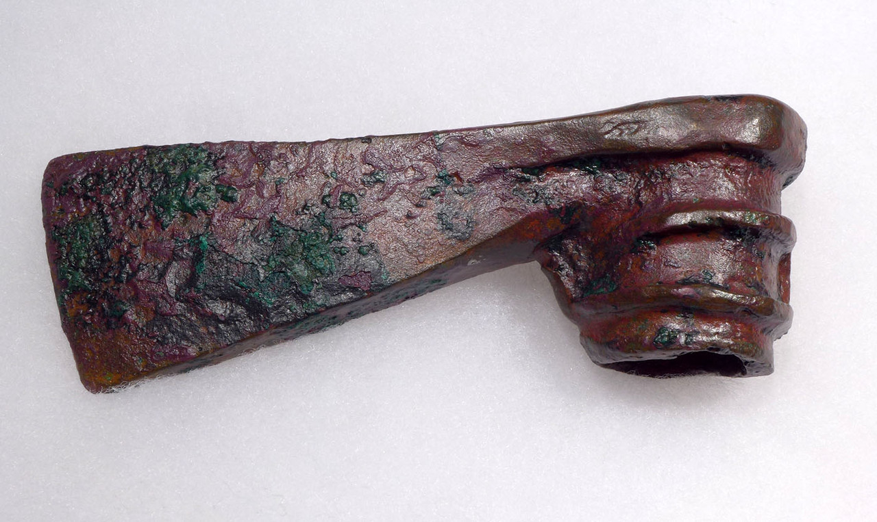 LURISTAN ANCIENT HEAVY BRONZE INFANTRY WAR AXE WITH AMAZING PATINA  *LUR164