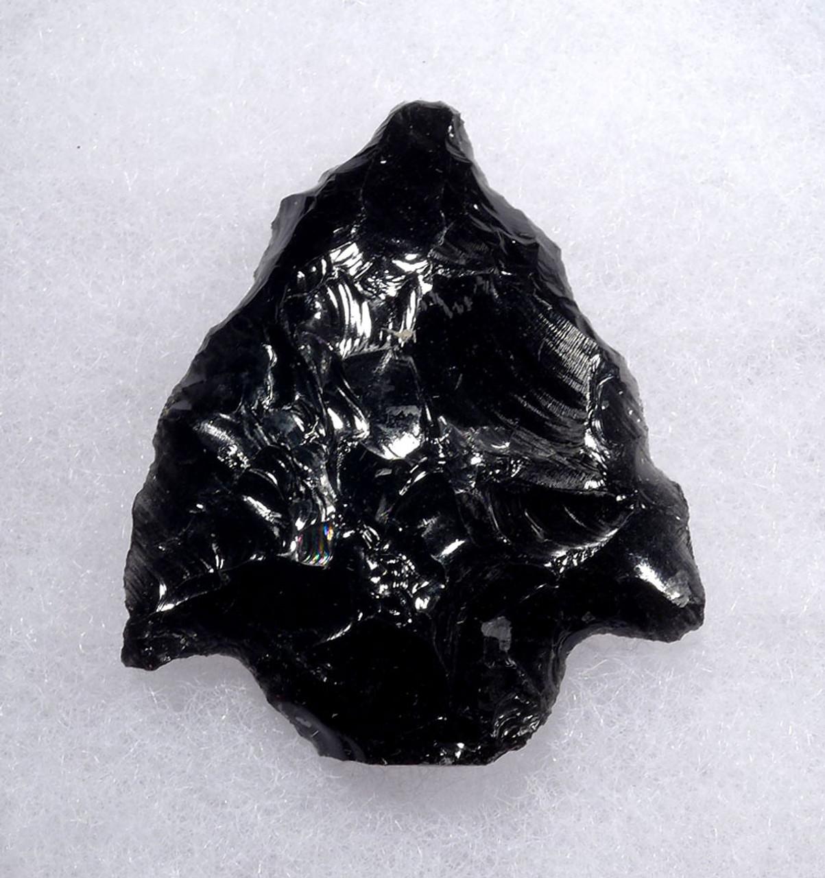 SYMMETRICAL WIDE BARBED PRE-COLUMBIAN OBSIDIAN ATLATL SPEARHEAD  * PC307