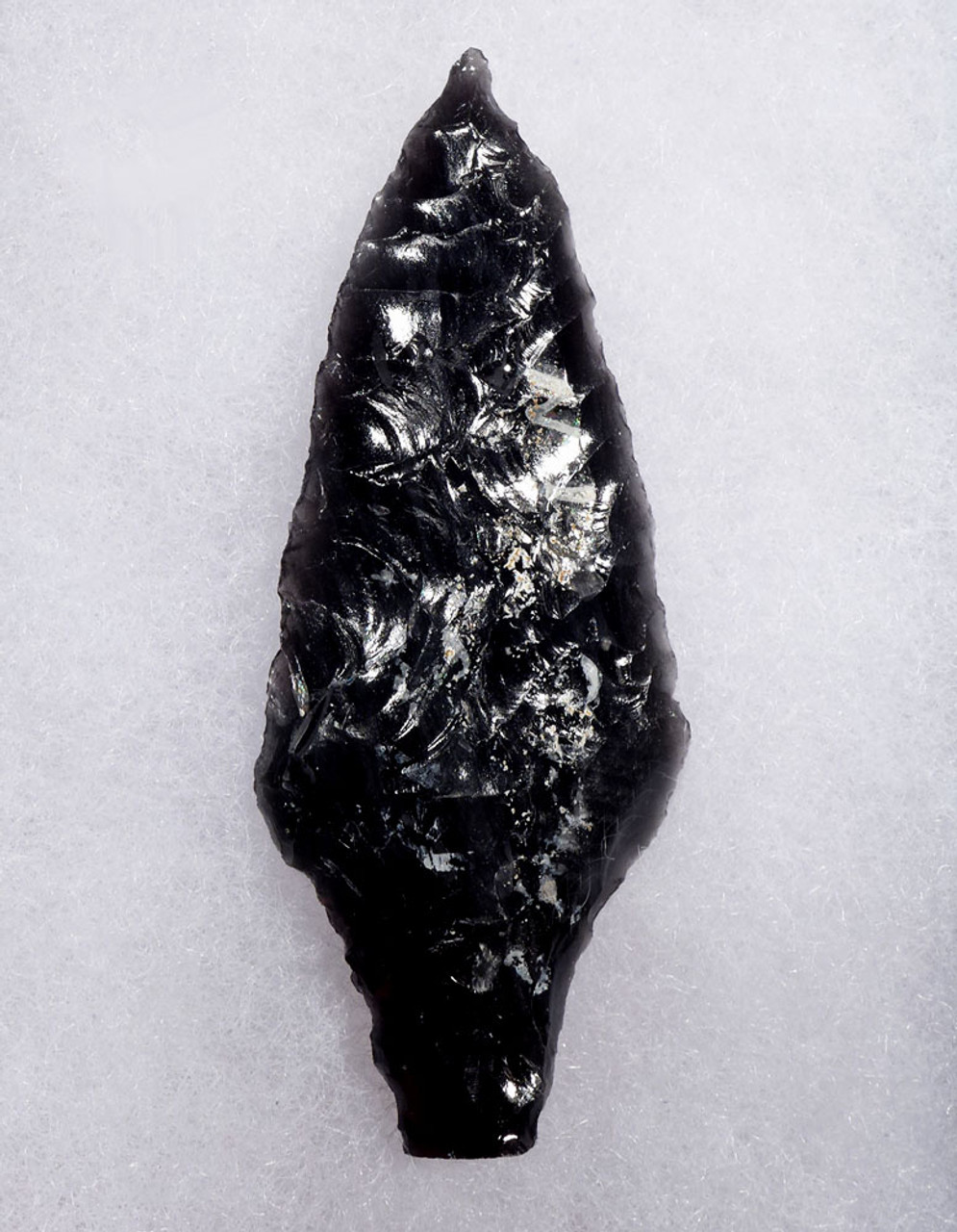 FINEST LARGE PRE-COLUMBIAN BANDED OBSIDIAN ATLATL SPEARHEAD  * PC314