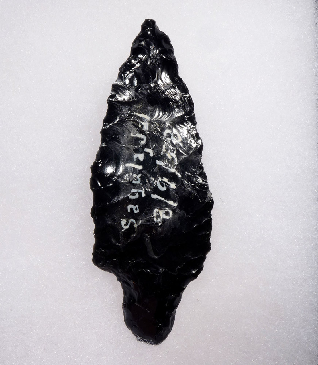 SUPREME LARGE PRE-COLUMBIAN OBSIDIAN ATLATL PROJECTLE SPEARHEAD  * PC319