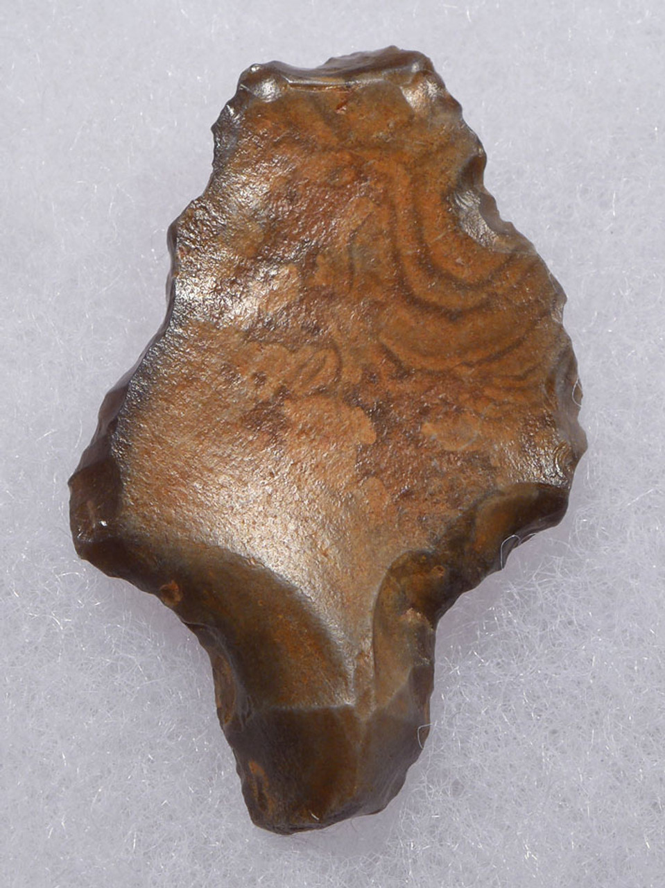 EARLIEST KNOWN TANGED ARROWHEAD OF RARE PETRIFIED WOOD - MIDDLE PALEOLITHIC ATERIAN POINT *AT103