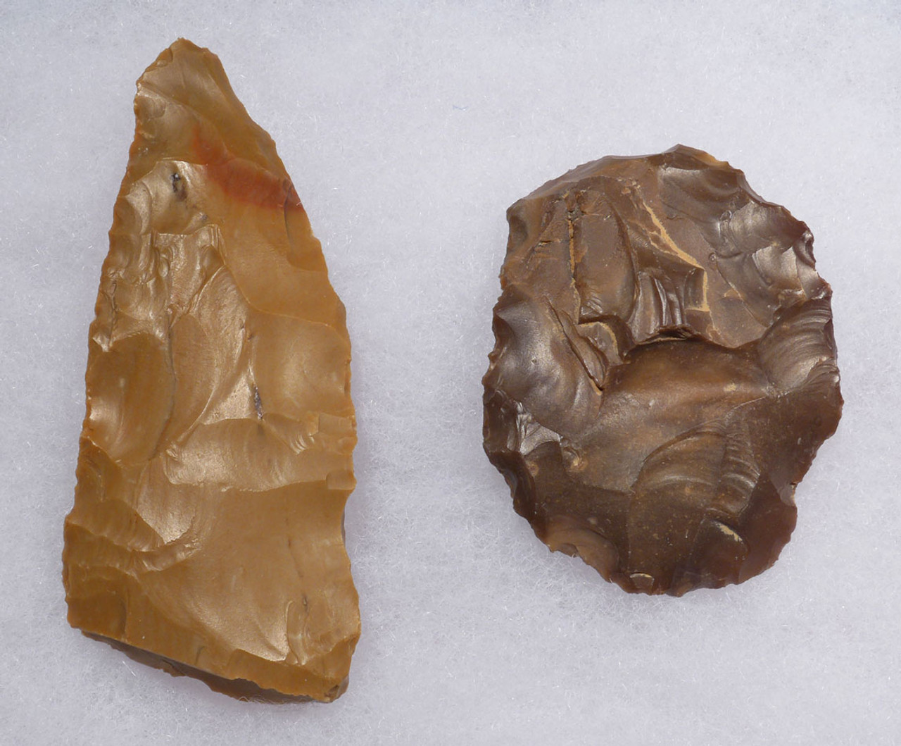 TWO SPECTACULAR ATERIAN AFRICAN PREHISTORIC FLAKE TOOLS OF THE  MIDDLE PALEOLITHIC  *AT110