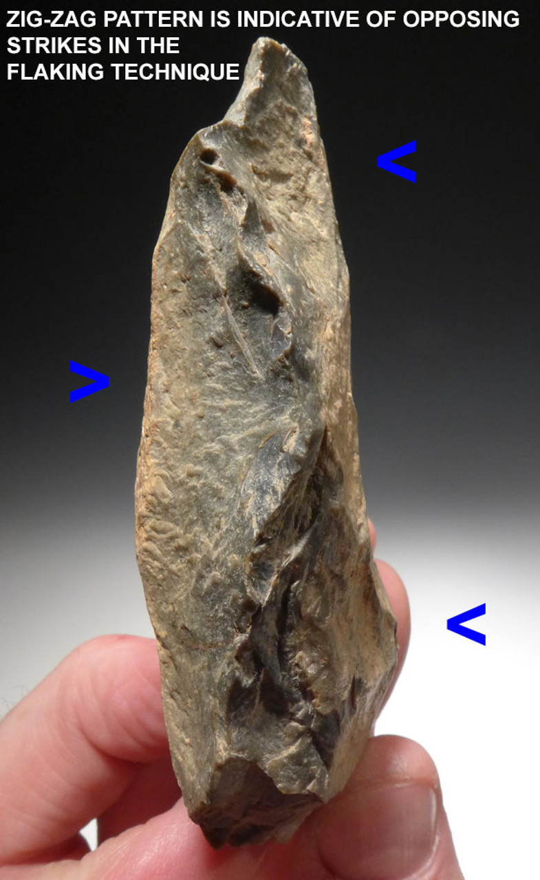 MOUSTERIAN MIDDLE STONE AGE HAND AXE FROM AFRICA WITH THIN UNBROKEN TIP  *M412