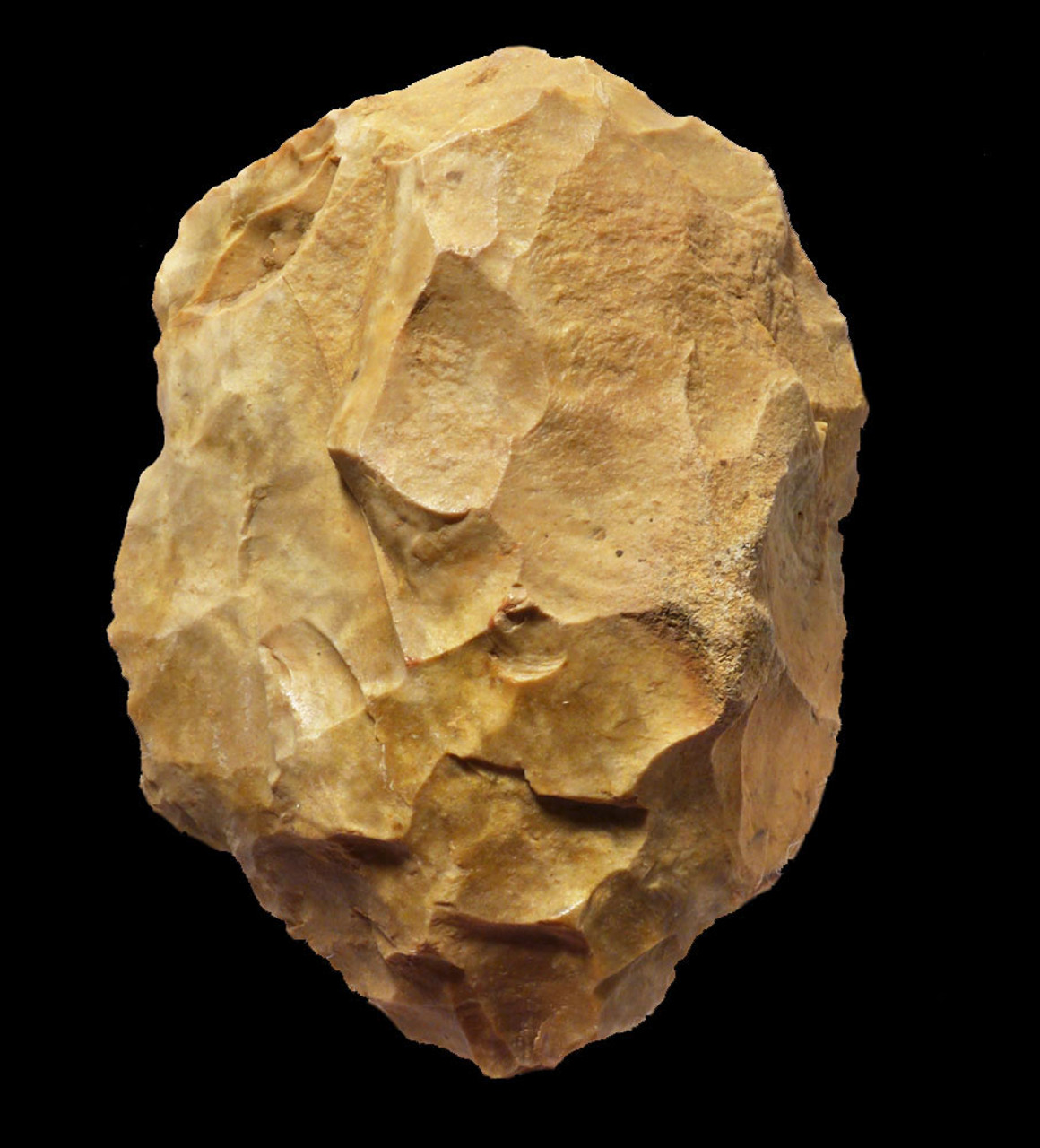 INVESTMENT-CLASS YELLOW FLINT NEANDERTHAL MOUSTERIAN HAND AXE FROM FRANCE  *M413