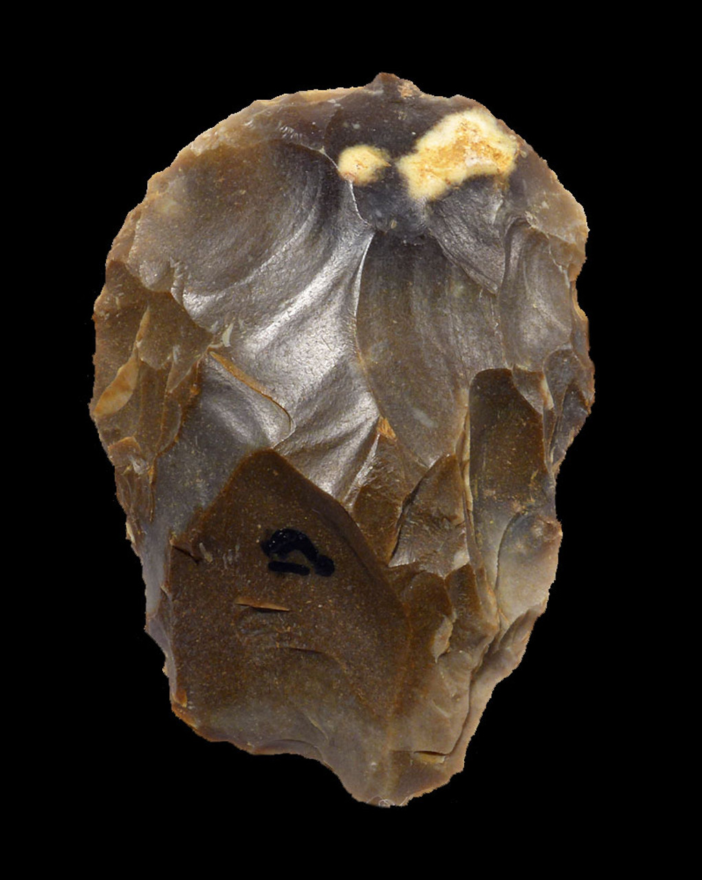COLORFUL NEANDERTHAL MOUSTERIAN FLINT HAND AXE FROM FRANCE WITH EXCEPTIONAL FLAKING  *M414