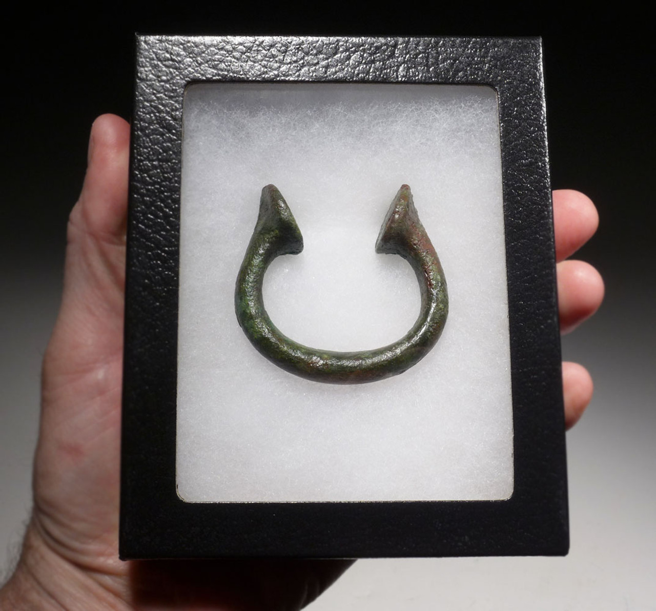 NOBLE CLASS ANCIENT CELTIC BRONZE BABY BRACELET CUFF RING  *CEL015
