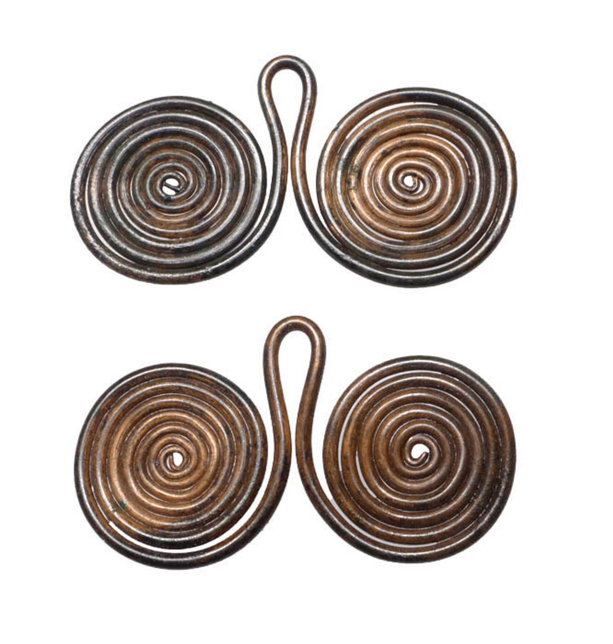 MUSEUM-CLASS EUROPEAN BRONZE AGE SPIRAL ORNAMENT SET WITH SUPERB INTACT PRESERVATION *EB001