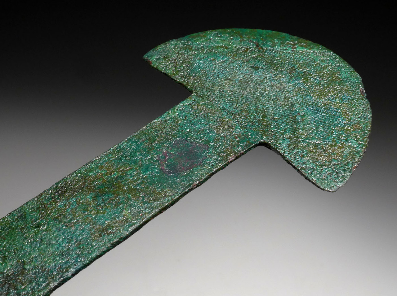 ANCIENT PRE-COLUMBIAN SURGICAL COPPER TUMI KNIFE FOR SKULL TREPANATION  *PC326