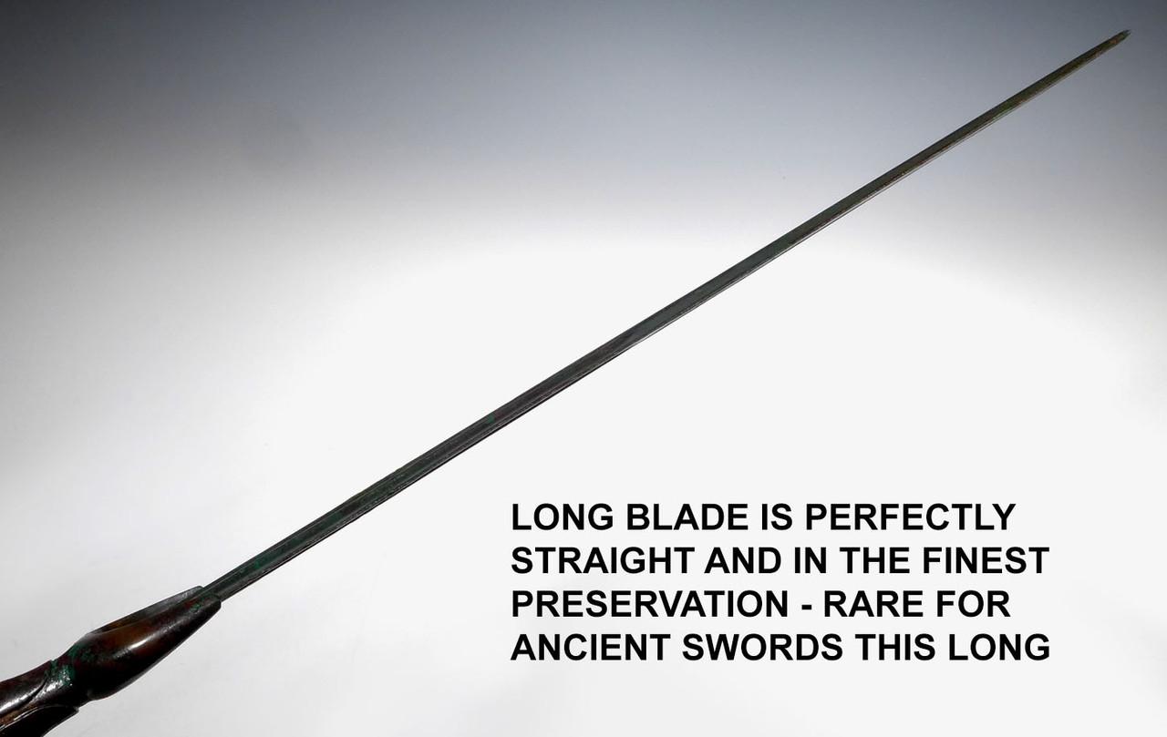 LARGE RARE PRESTIGE SWORD OF THE ANCIENT BRONZE NEAR EASTERN LURISTAN CULTURE  *LUR1000