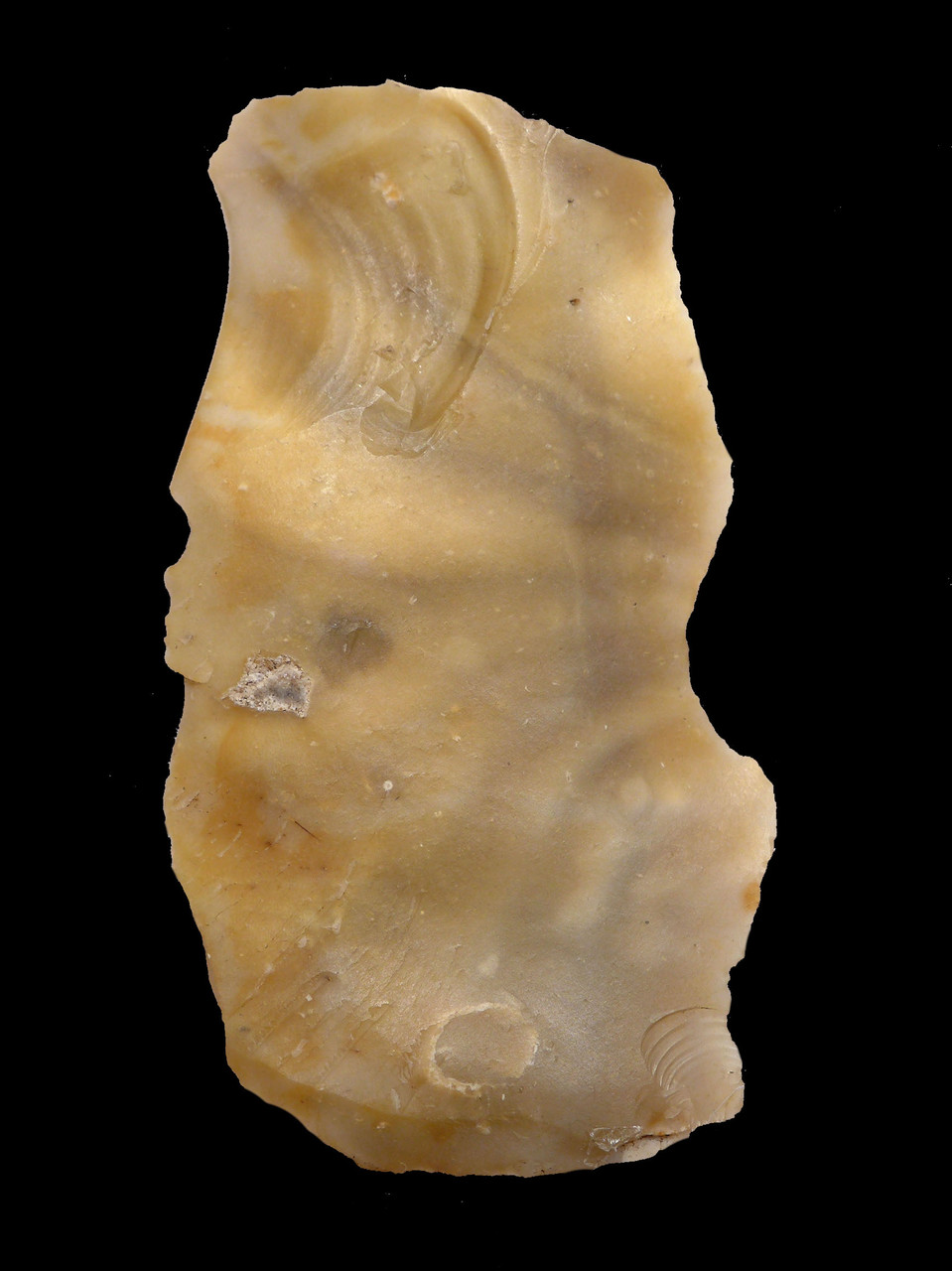 BEAUTIFUL BANDED DANISH NEOLITHIC NOTCH SCRAPER FLAKE TOOL FROM THE FUNNEL-NECKED BEAKER CULTURE  *N193