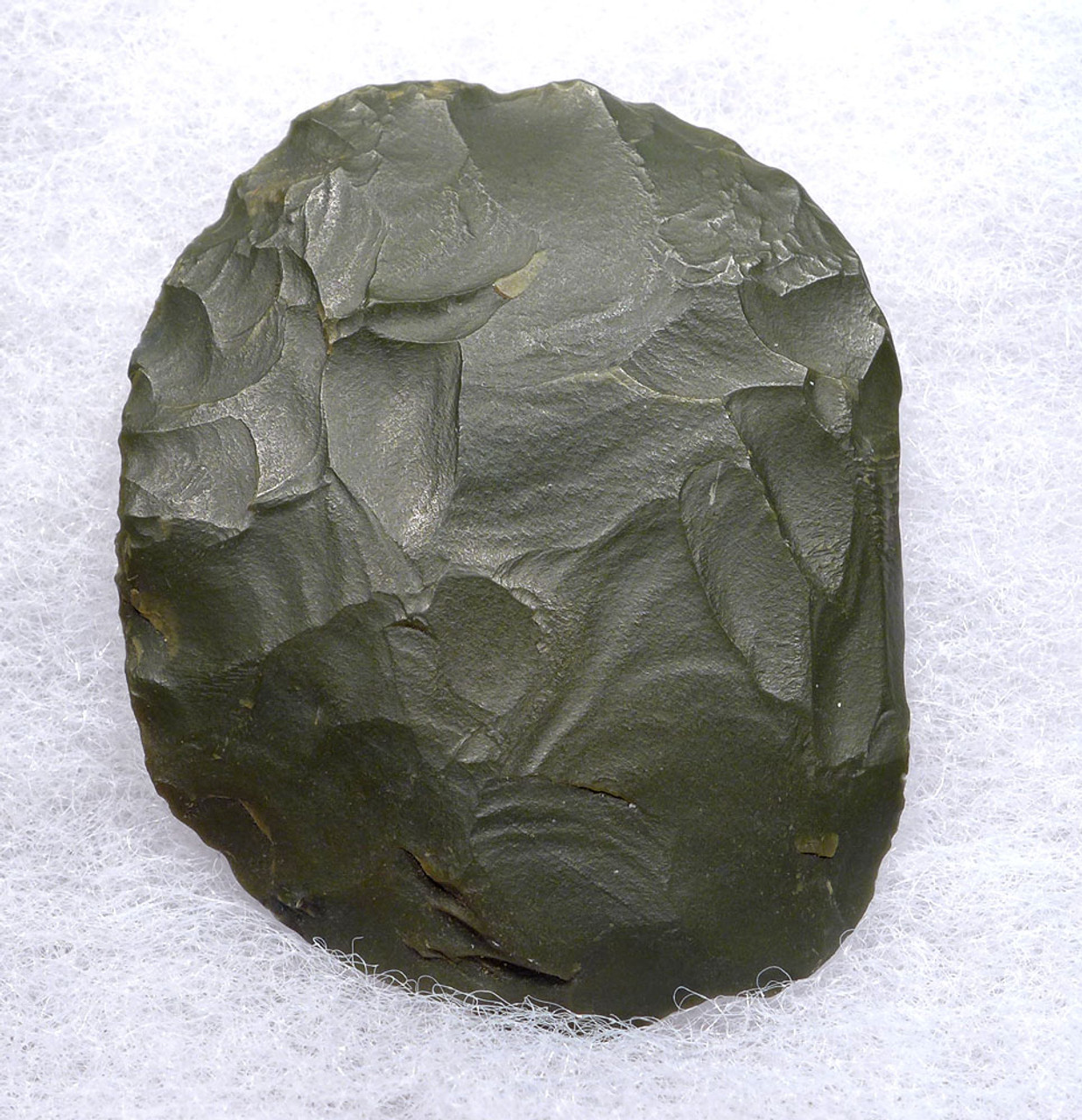 RARE GREEN JASPER DISCOIDAL SCRAPER FROM THE TENERIAN AFRICAN NEOLITHIC PEOPLE OF THE GREEN SAHARA  *CAP263