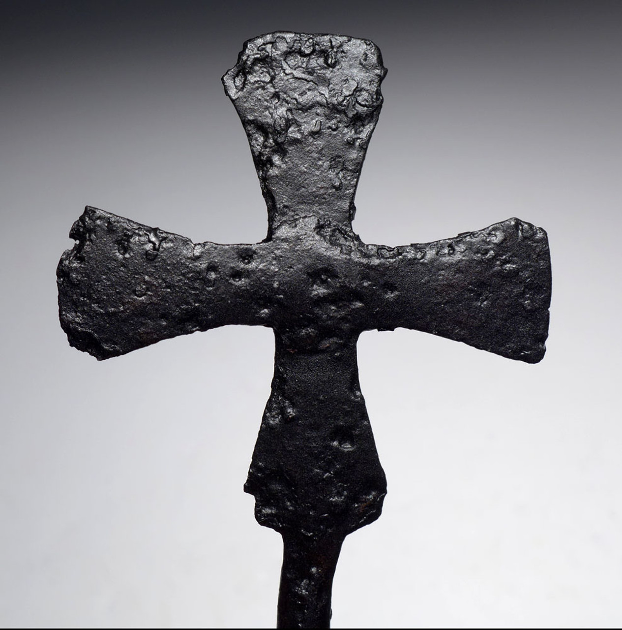 EXTREMELY RARE ANCIENT CHRISTIAN ROMAN PROCESSIONAL CROSS USED BY THE BYZANTINE MILITARY IN COMBAT  *R269