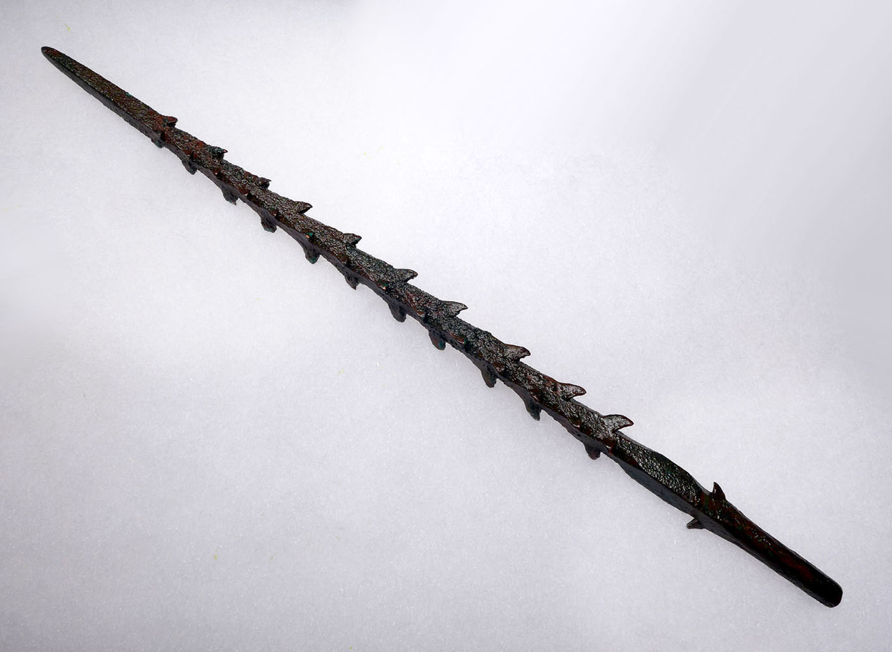 EXTREMELY RARE ANCIENT BRONZE SERRATED HARPOON SPEAR FROM THE NEAR EAST  *LUR178