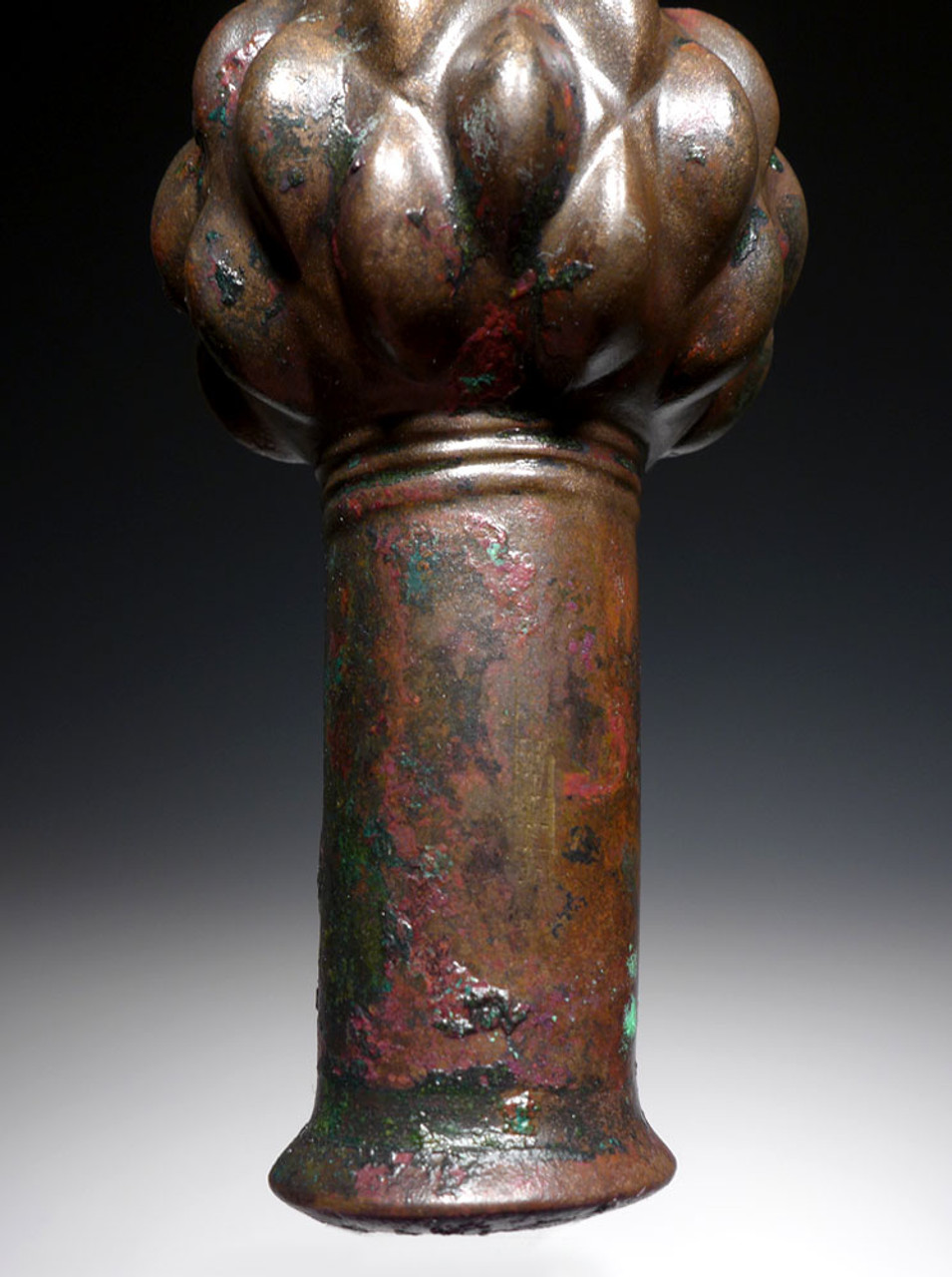 ANCIENT NEAR EAST BRONZE BATTLE SCEPTER MACE HEAD FROM LURISTAN WITH EXCEPTIONAL PRESERVATION *NE223