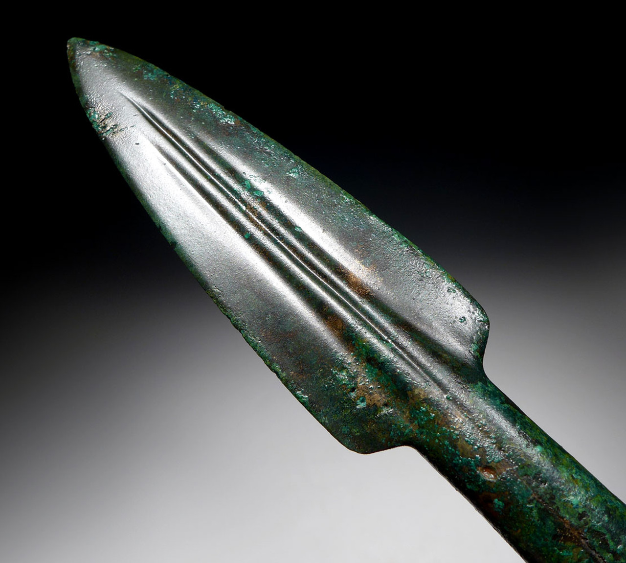 FINEST ANCIENT ACHAEMENID BRONZE THROWING JAVELIN SPEARHEAD FROM THE FIRST PERSIAN EMPIRE  *NE220