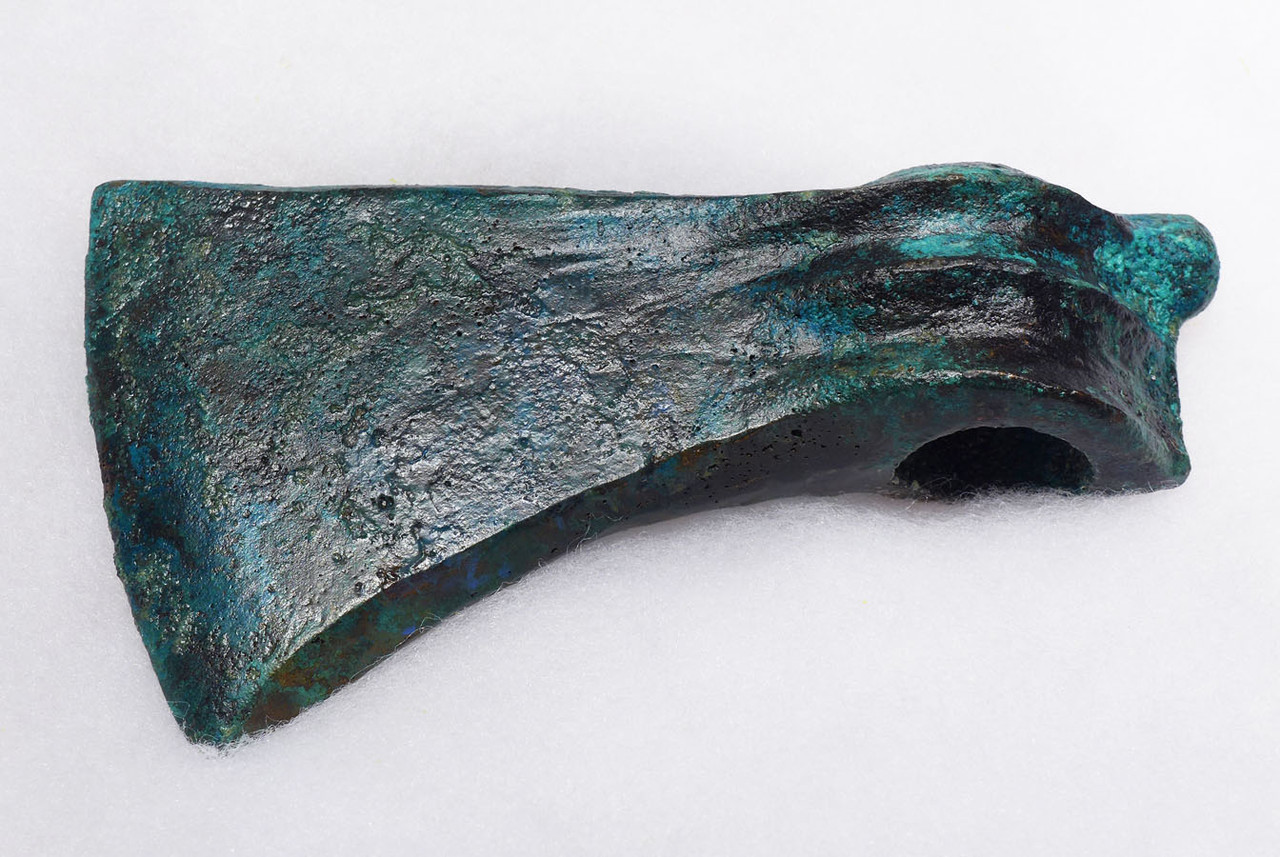 ANCIENT BRONZE BATTLE AXE WITH INCREDIBLE PATINA FROM NEAR EASTERN LURISTAN  *LUR195