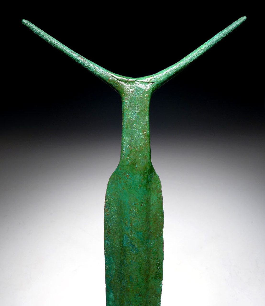 FINEST INVESTMENT-CLASS ANCIENT COPPER ANTENNA SWORD FROM THE HARAPPAN CIVILIZATION  *LUR191