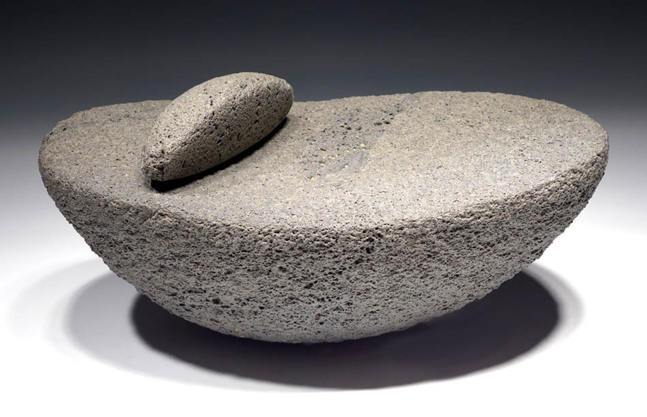 """EXTREMELY RARE TENEREAN NEOLITHIC GRINDING MILL FROM THE PREHISTORIC TENERIAN PEOPLE OF THE """"GREEN SAHARA"""" *TEN01"""