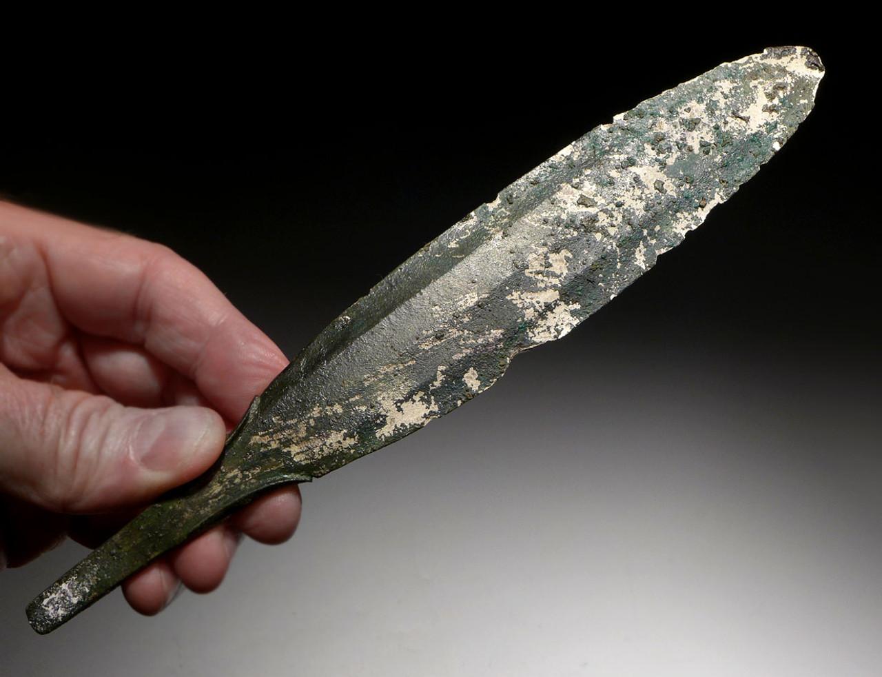 RARE WHITE BRONZE ANCIENT NEAR EASTERN LURISTAN DAGGER KNIFE *LUR137