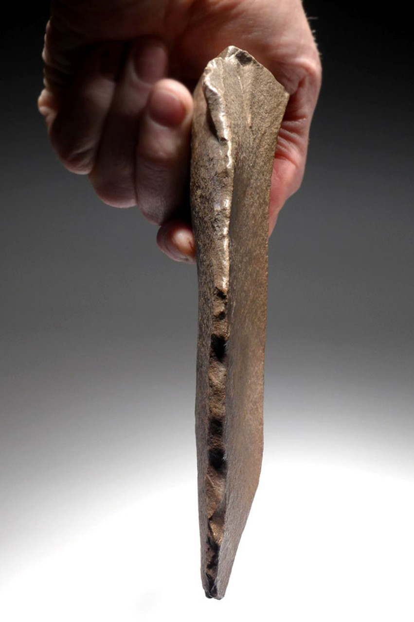 LARGE STONE AGE ACHEULEAN SCRAPER BLADE MADE BY HOMO ERGASTER OF LOWER PALEOLITHIC AFRICA  *ACH416