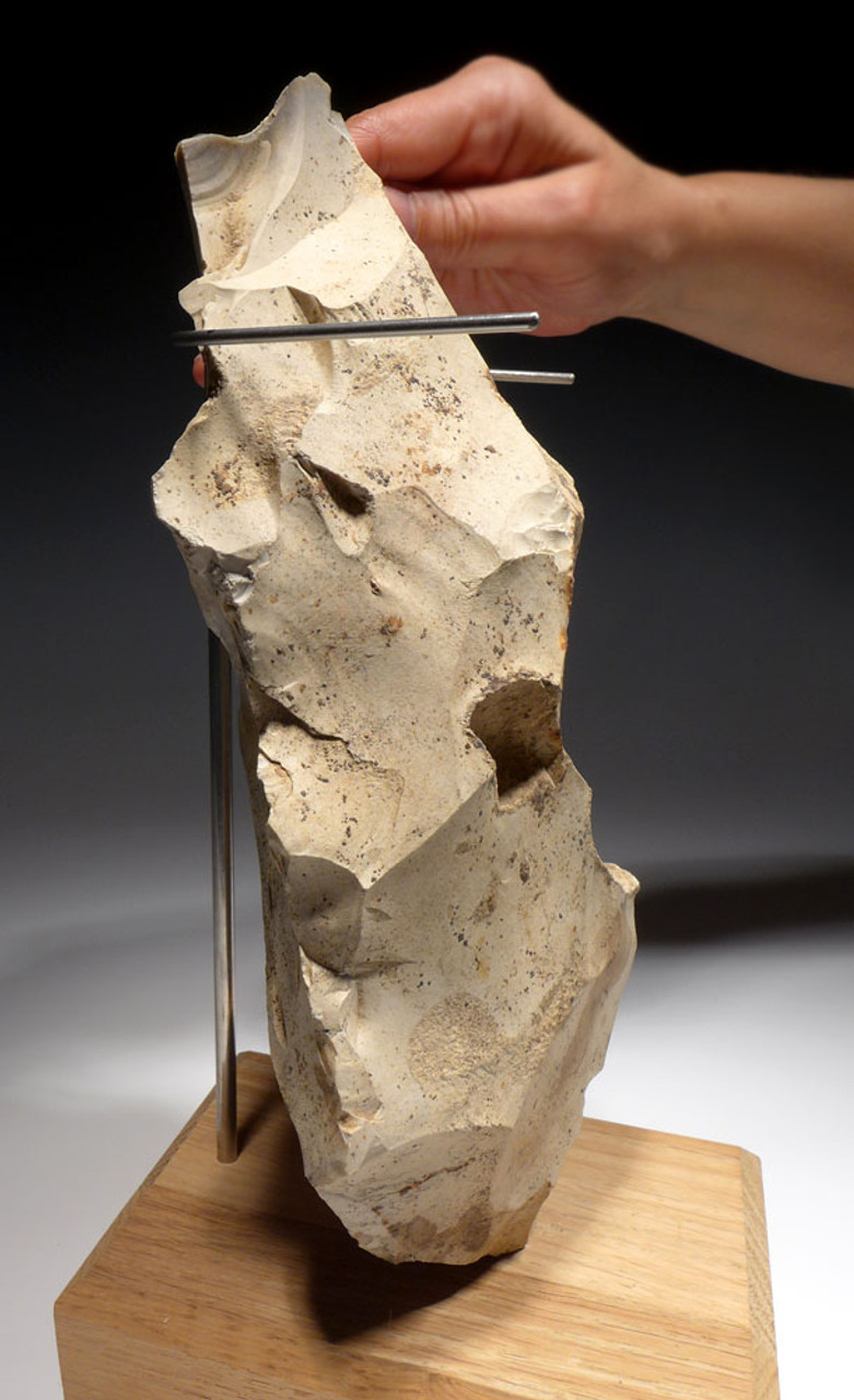 ULTRA-RARE MASSIVE NEOLITHIC FLINT TRADE TOOL CORE FROM THE WORLD-FAMOUS SPIENNES SITE OF BELGIUM  *N198