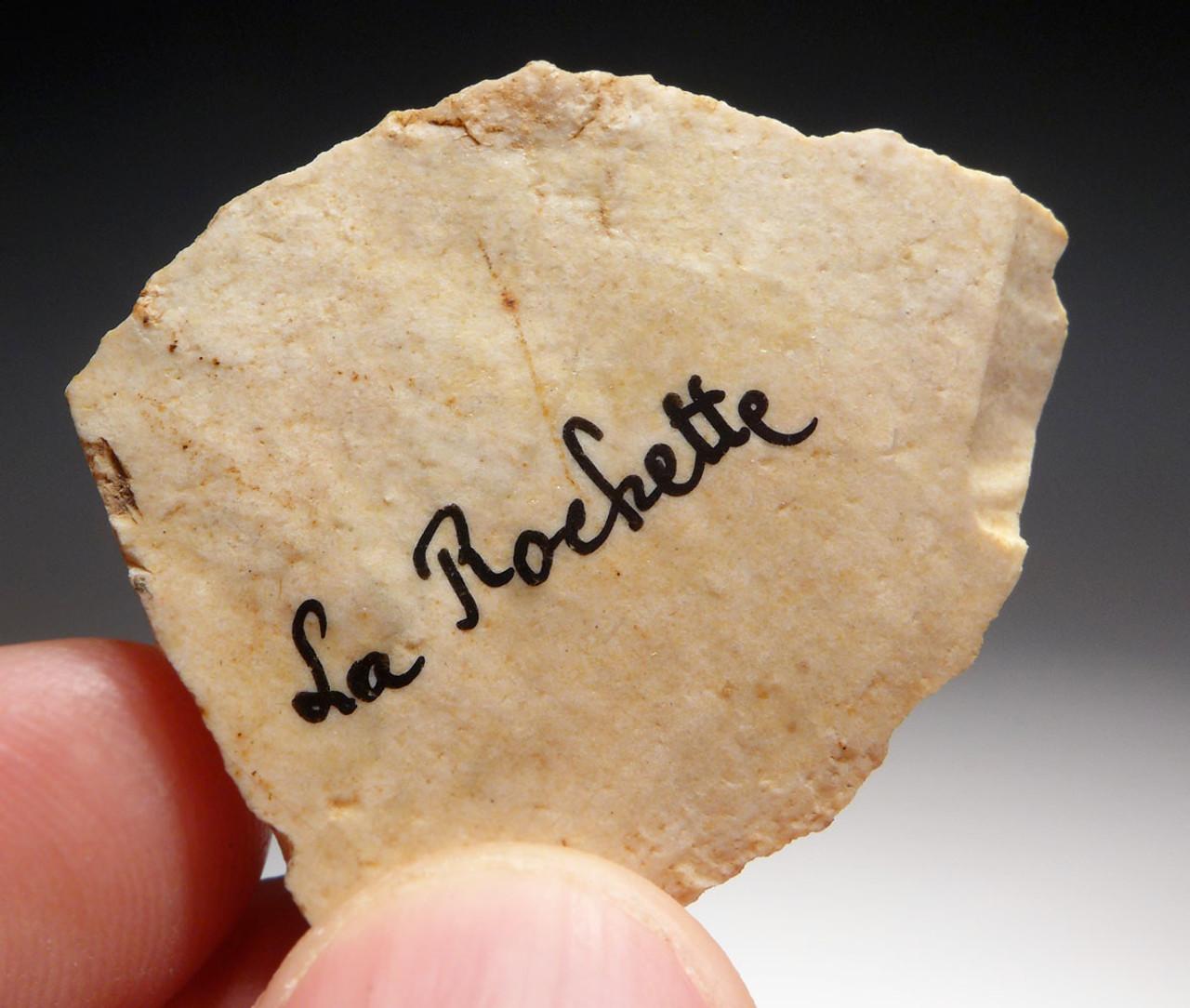 CRO-MAGNON UPPER PALEOLITHIC AURIGNACIAN BURIN ART GRAVER TOOL FROM FAMOUS LA ROCHETTE SITE FRANCE  *UP038
