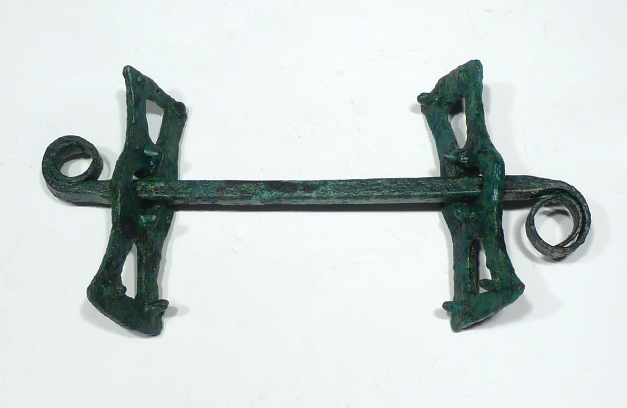 MUSEUM-CLASS ANCIENT CHARIOT LURISTAN BRONZE HORSE BIT WITH CHEEKPIECES HARNESS  *LUR197