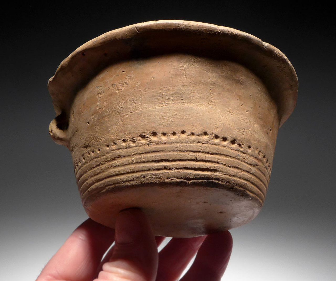 URNFIELD CERAMIC FLARED EDGE DECORATED BOWL FROM BRONZE AGE GERMAN  *URN1