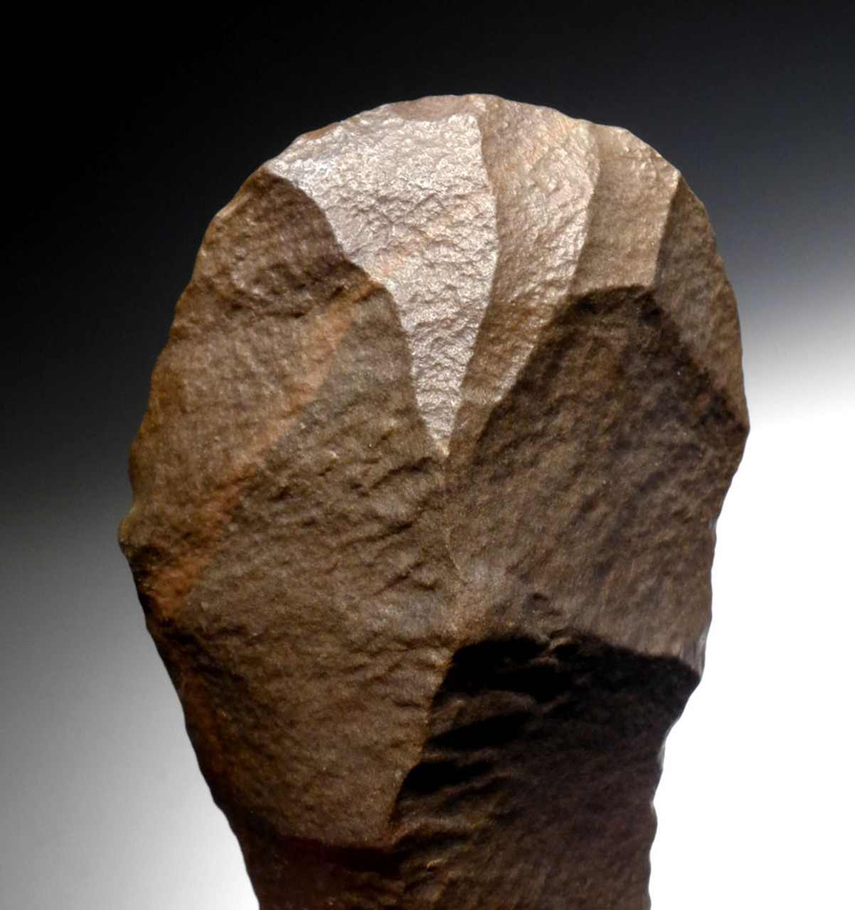 COLORFUL CHOICE ACHEULEAN TRIHEDRAL PICK HAND AXE FROM HOMO ERECTUS OF STONE AGE OF AFRICA  *ACH427