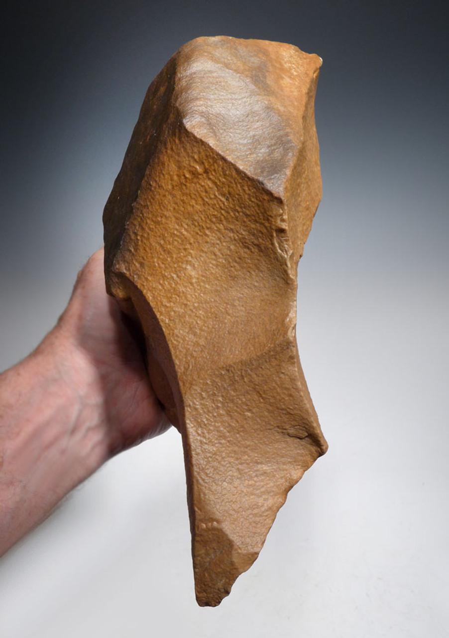 ENORMOUS STONE AGE ELEPHANT KILLER MUSEUM-CLASS HAND AXE OF THE ACHUELEAN BY HOMO ERECTUS  *ACH429