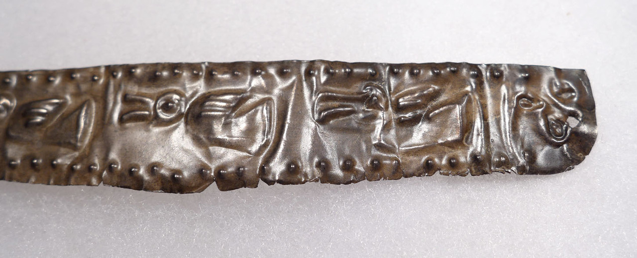 EXTREMELY RARE PRE-COLUMBIAN ROYAL CHIMU SILVER CROWN DIADEM   *PC328